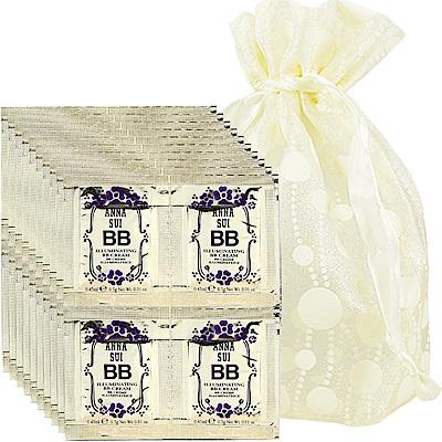 ANNA SUI 安娜蘇 魔法肌密潤澤光BB霜(#01)(0.45ml)*40旅行袋組