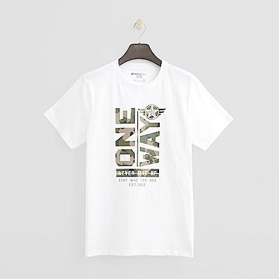 Hang Ten - 男裝 - 經典印字T恤-白色