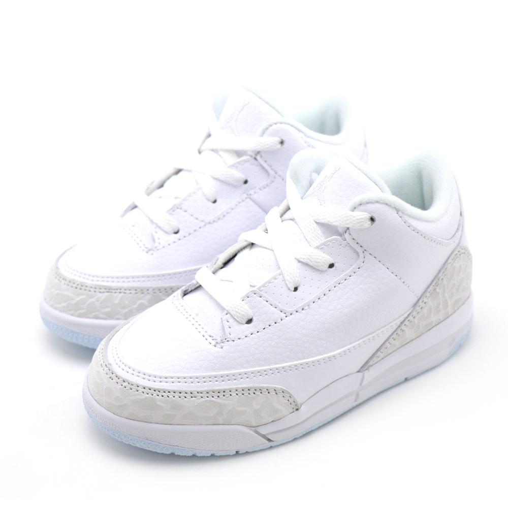 NIKE-JORDAN 3 RETRO 幼童籃球鞋-白色