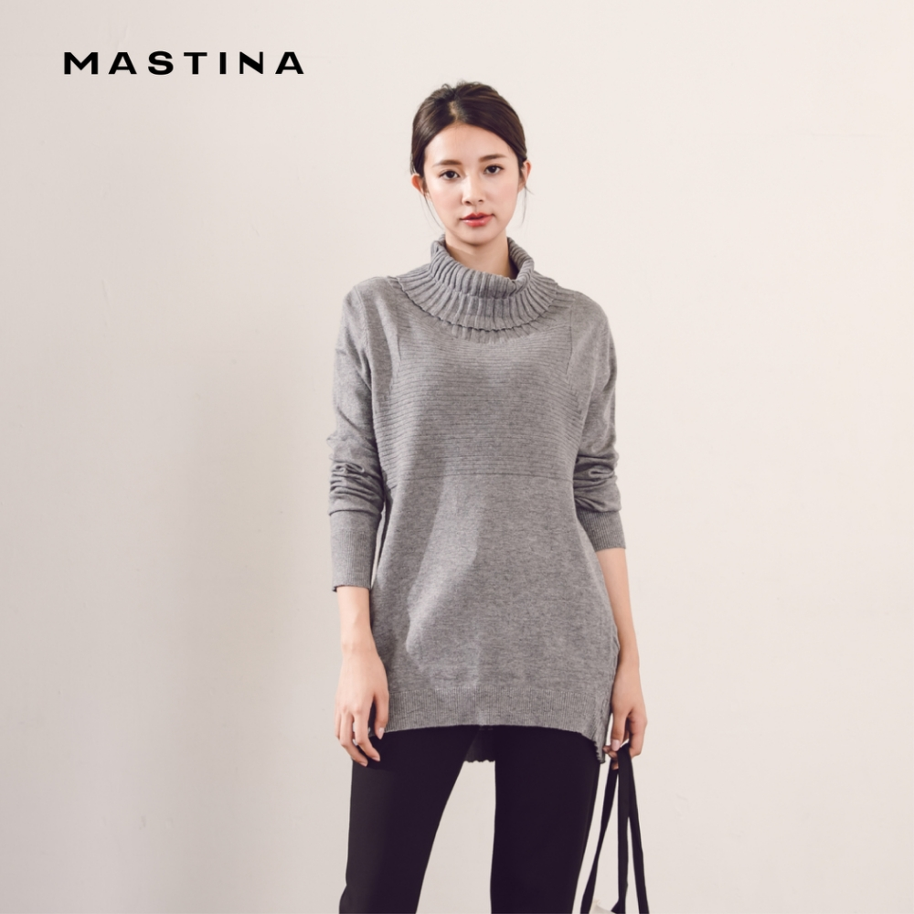 【MASTINA】質感高領氣質-針織衫(三色)