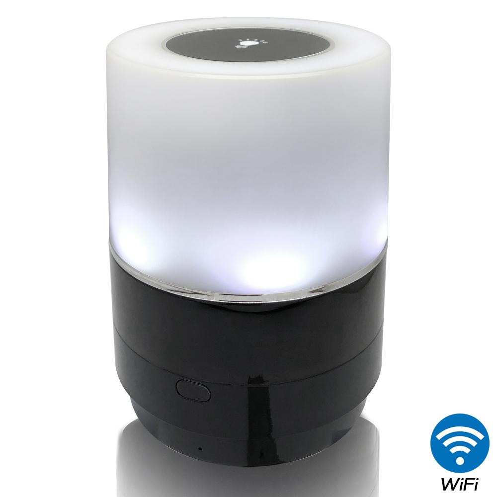 【CHICHIAU】WIFI無線網路高清1080P旋轉鏡頭七彩小夜燈造型-針孔微型攝影機