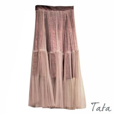 鬆緊百摺紗裙 TATA-F