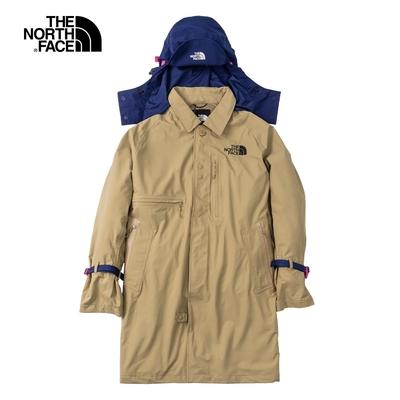 The North Face北面男款卡其色防水透氣可拆卸連帽衝鋒衣|49COPLX