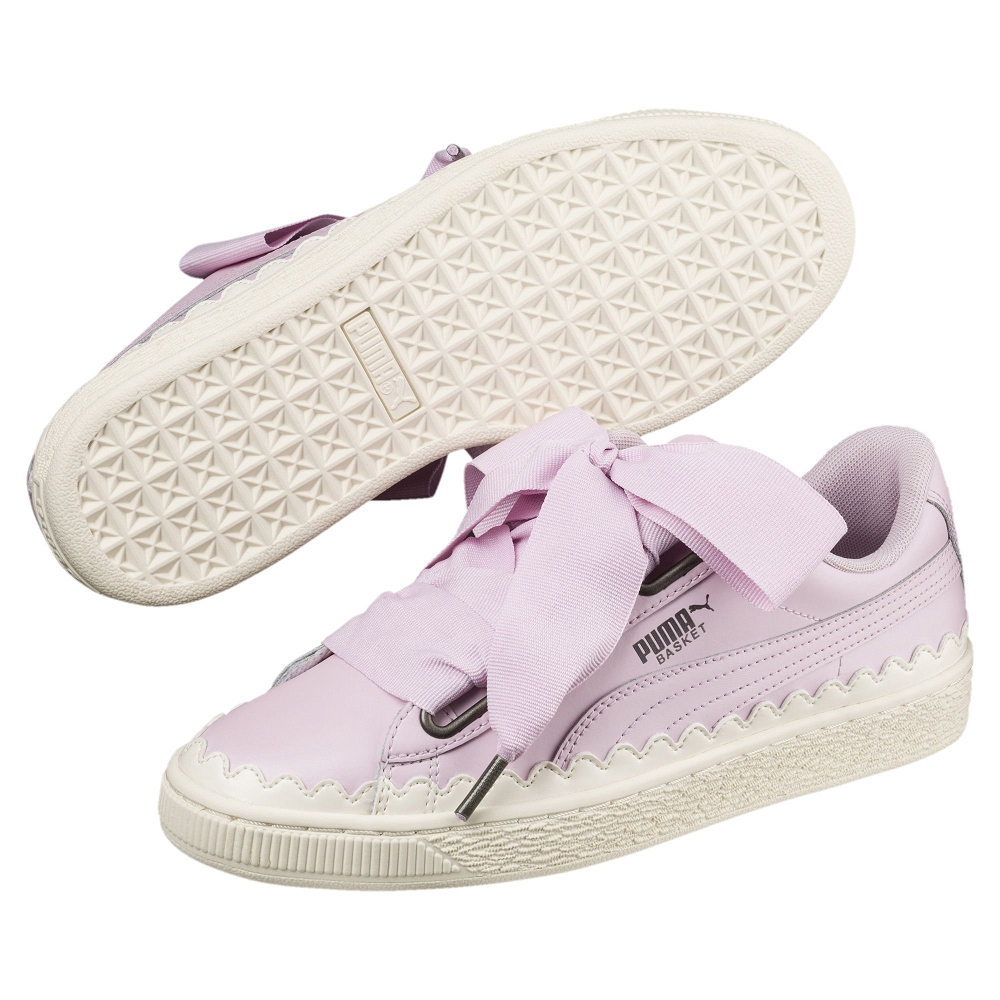 PUMA-BasketHeartScallopWns女籃球鞋-活力粉紫