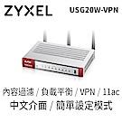 ZyXEL合勤 USG20W-VPN 防火牆