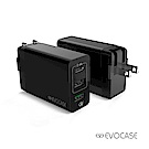 EVO CASE Type-C+USB 3孔 PD+2.4A急速充電器 2色