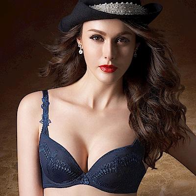 華歌爾-伊珊露絲印象巴黎D-E罩杯內衣(暗夜藍)