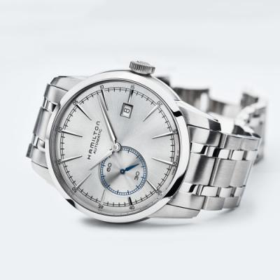 Hamilton RAILROAD 小秒針機械錶(H40515181)-銀/42mm