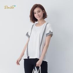 【Dailo】條紋吊帶棉質-上衣(三色)