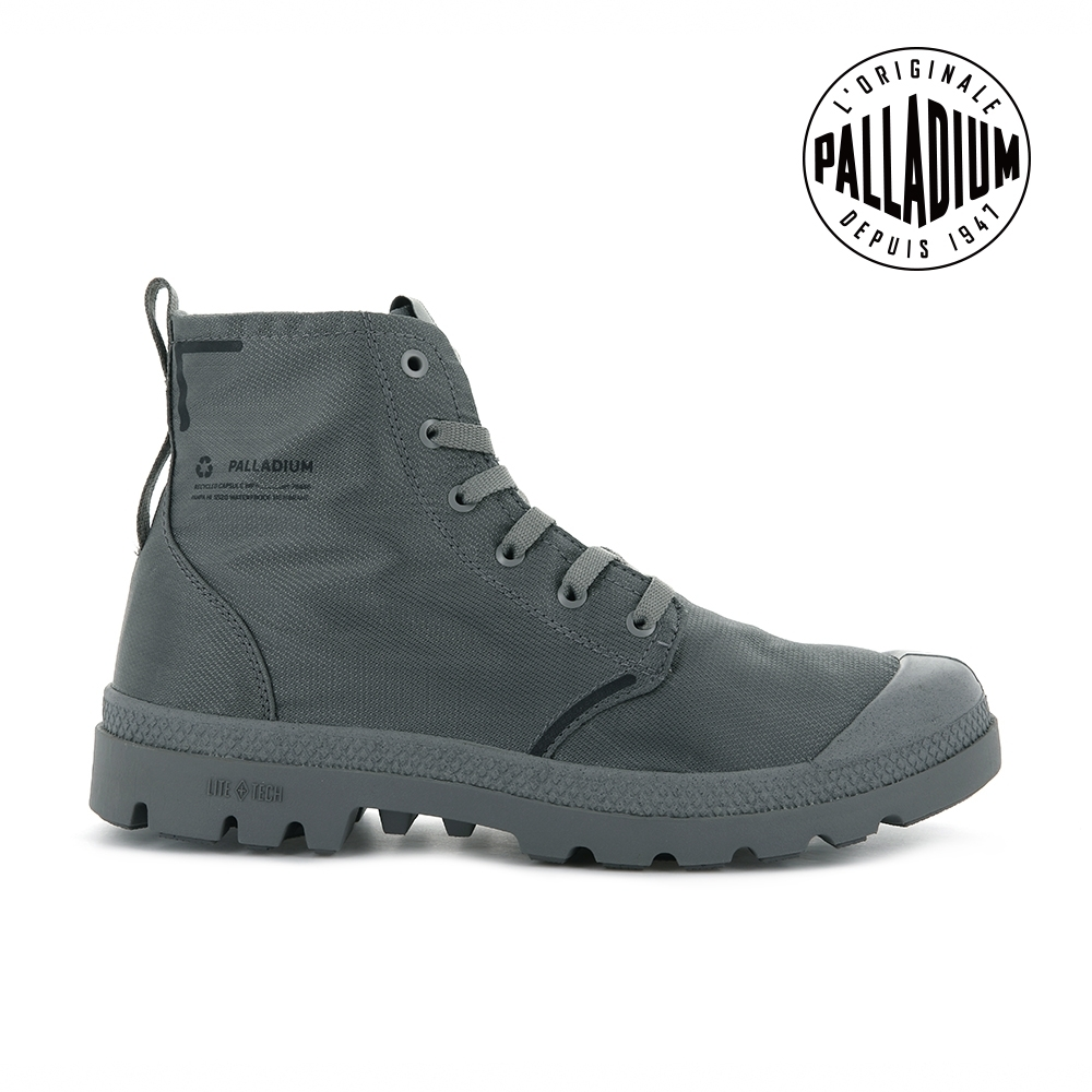 PALLADIUM PAMPA LITE+ RCYCL WP+再生纖維輕量防水靴-中性-灰
