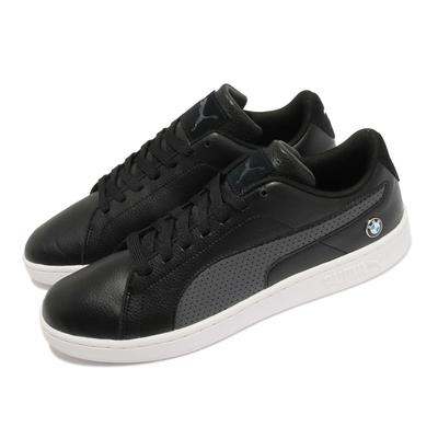 Puma 休閒鞋 BMW MMS Smash V2 男鞋 海外限定 人造皮革鞋面 板鞋 穿搭 黑 白 30645001