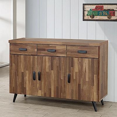 Homelike 里悟4尺餐櫃(積層木)-121x41x86cm