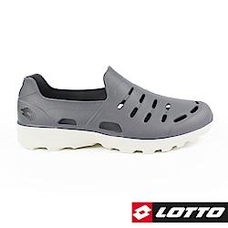 LOTTO 義大利 男 ROSSA 晴雨穿搭休閒鞋(灰)