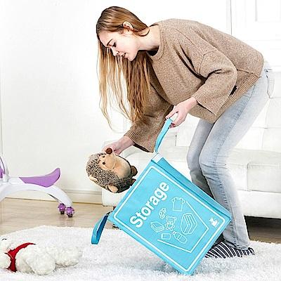 (買1送1)E.City大容量可折疊衣物玩具收納野餐購物萬用袋 共2入