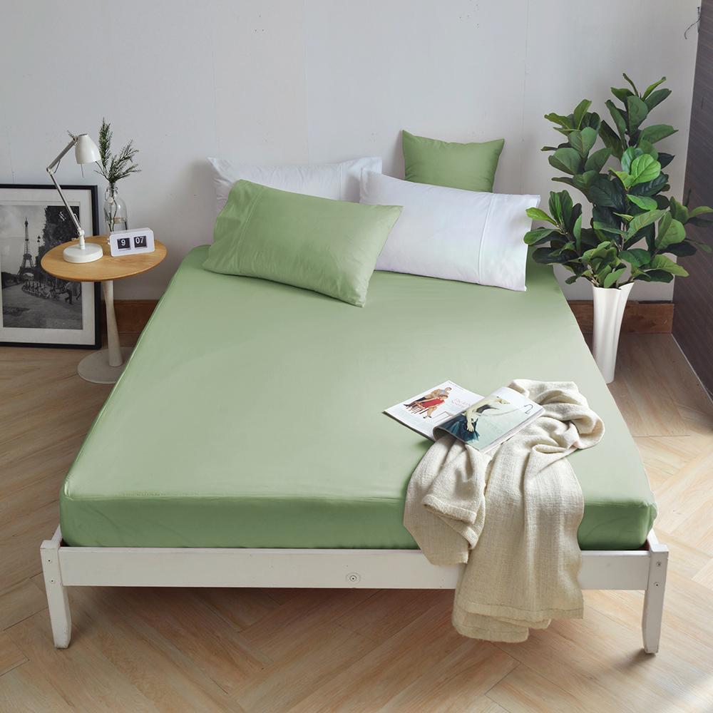 澳洲 Simple Living 單人300織純棉防水透氣床包(橄欖綠)