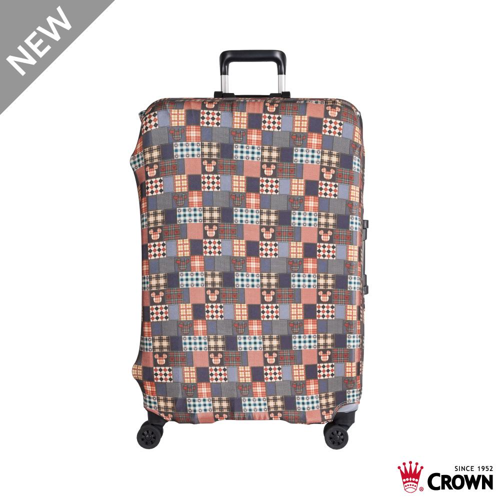 CROWN 皇冠 行李箱保護套 25~29吋 復古棕米奇