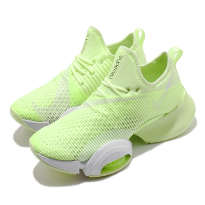 Nike 訓練鞋 Zoom SuperRep 運動 女鞋 氣墊 舒適 避震 襪套 穩定 健身房 綠 白 BQ7043710
