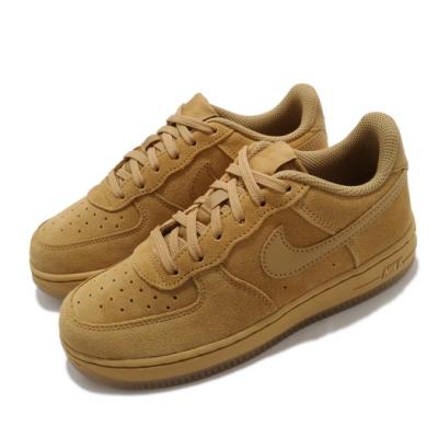 Nike 休閒鞋 Force 1 LV8 3 運動 童鞋 基本款 簡約 麂皮 舒適 中童 穿搭 棕 BQ5486700