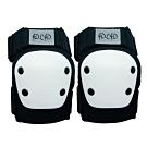 DLD多輪多 專業特技直排輪護具 溜冰鞋 蛇板 滑板護具 極限運動強化護肘護膝 黑白 S