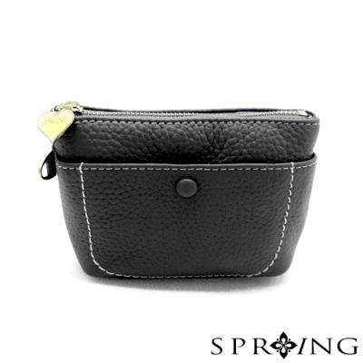 SPRING-太陽的手提鑰匙零錢包-知性黑