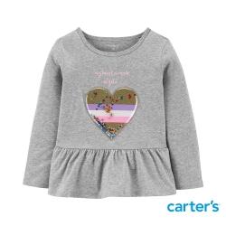 【Carter s】質感亮片愛心長袖上衣(12M-24M) (台灣總代理)