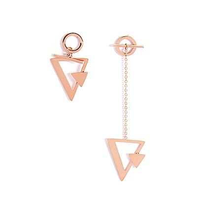 微醺禮物 正韓 低過敏 鋼針 鋼飾 特殊幾何造型 左右不同款 歐美時尚風  耳環