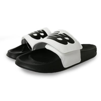 New Balance 涼拖鞋 基本款 輕量 透氣 休閒 男女鞋 黑 白 SMA200W1D