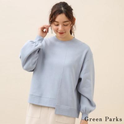 Green Parks 不對稱拼接剪裁設計長袖上衣