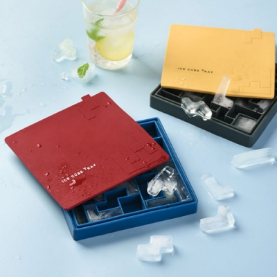 俄羅斯方塊矽膠製冰盒 DIY製冰模具/冰模 帶防塵蓋
