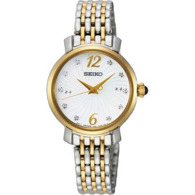 SEIKO 精工 CS 系列晶鑽石英女錶(SPZ522P1)-珍珠貝x雙色/28mm