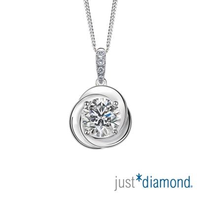 Just Diamond 30分18K金鑽石吊墜-薔薇愛戀