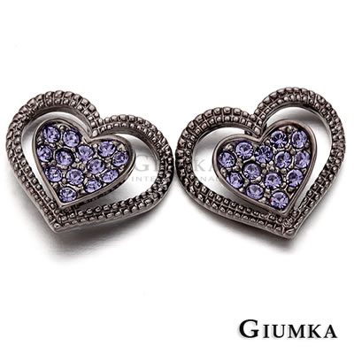 GIUMKA愛心耳環 心戀心針式耳環-共2色