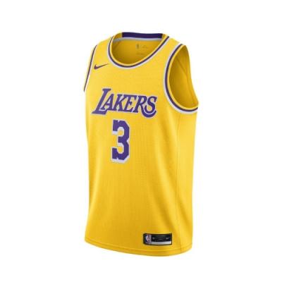 Nike 球衣 Anthony Davis 運動休閒 男款 NBA球星 戴維斯 洛杉磯 湖人 背心 黃 紫 CW3669728