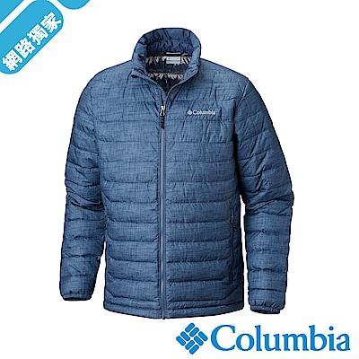 Columbia哥倫比亞 男款-Omni-HEAT 保暖防水外套-藍色