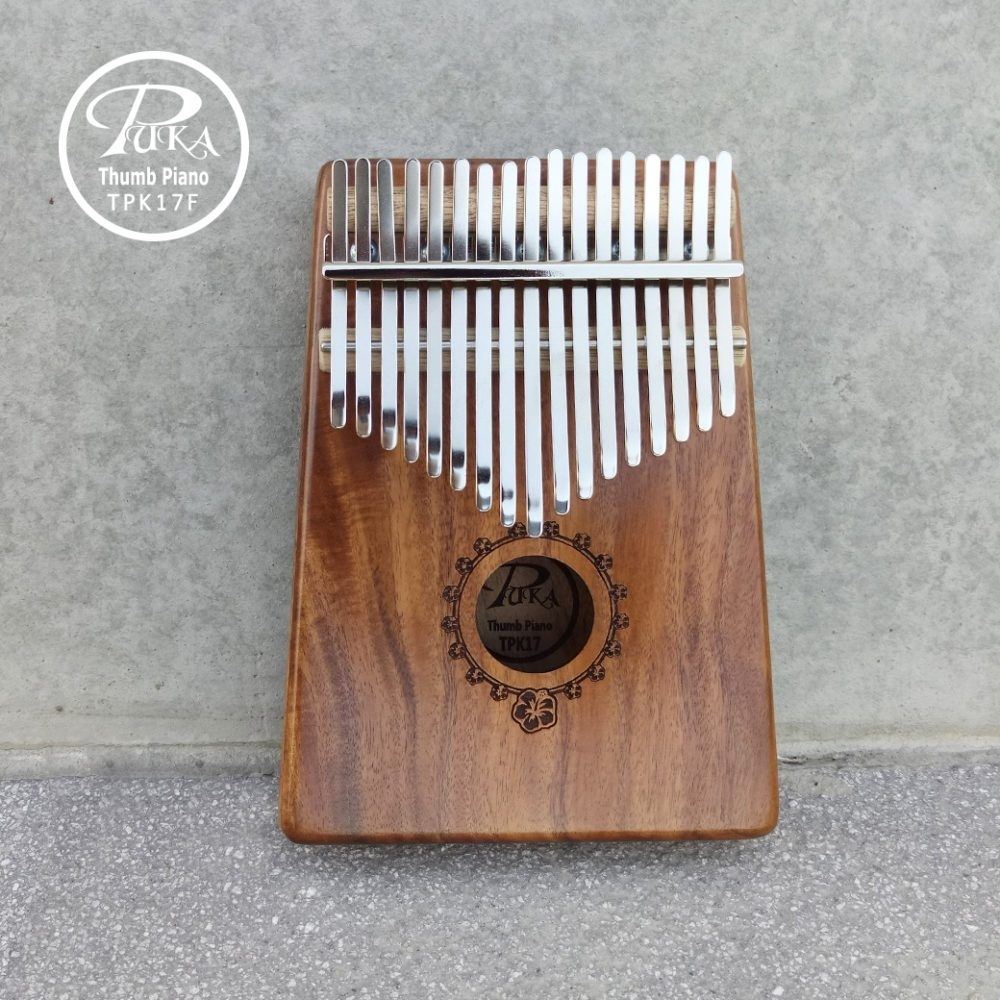 PUKA 卡林巴琴/拇指琴/17音/扶桑花雕刻款 公司貨
