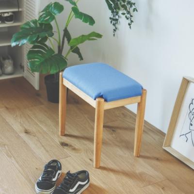 Home Feeling 無印長方款椅凳/餐椅/化妝椅/休閒椅-2入組(3色)