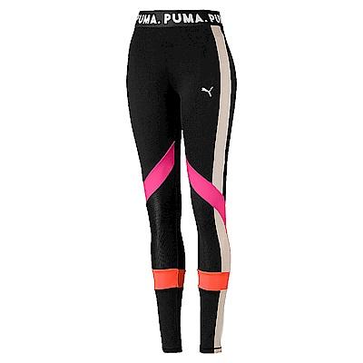 PUMA-女性流行系列Chase撞色緊身褲-黑色-歐規