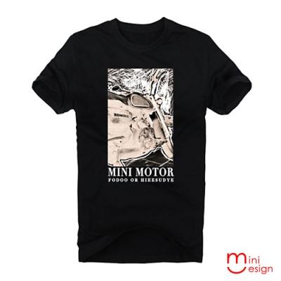 (男款)MINI MOTOR影像潮流設計短T 三色-Minidesign