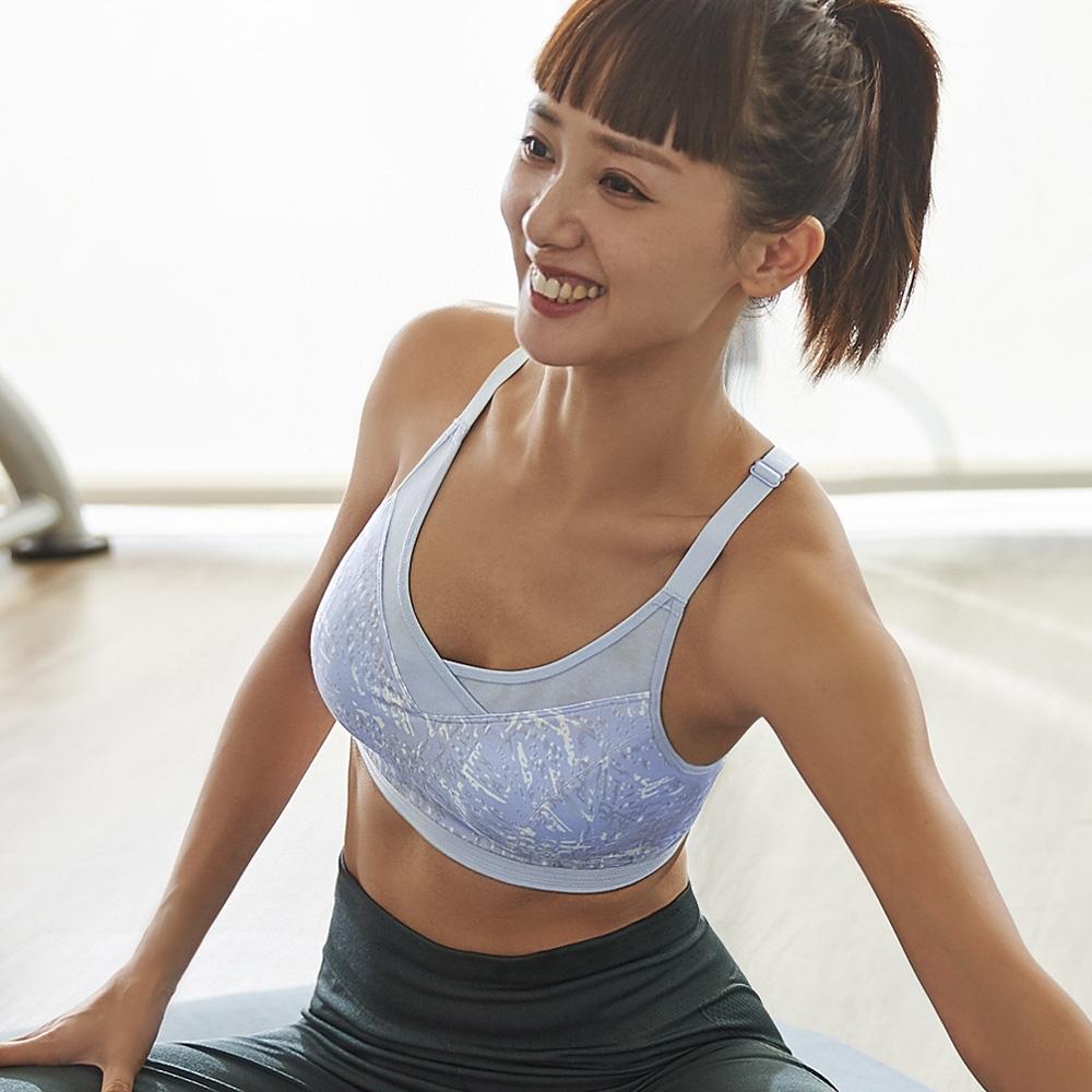 蕾黛絲-LadieSport好運動 Level 2 舒活背心【印花款】 M-EEL 樂天藍