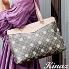 KINAZ 大容量多層珍珠LOGO托特包-莎士比亞系列