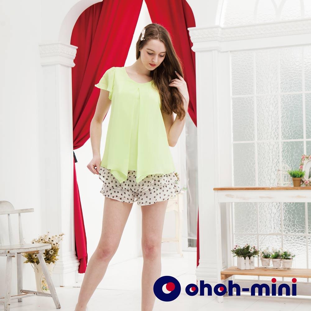 【ohoh-mini哺乳裝】俐落剪裁雪紡哺乳上衣
