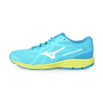 MIZUNO 女 慢跑鞋-WIDE STARGAZER 2 水藍白