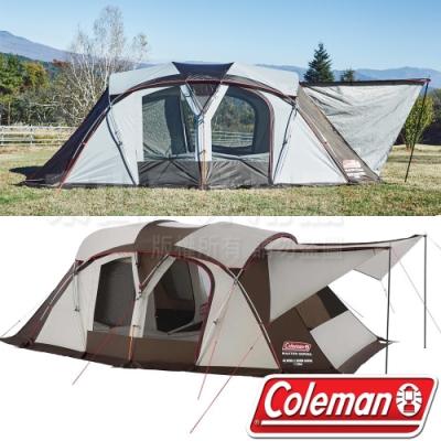 Coleman CM-36432 達人2-ROOM CURVE 子母帳 防蚊透氣帳/露營炊事帳/寢室帳/一房一廳帳