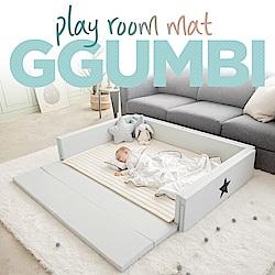 GGUMBI/DreamB 多功能圍欄地墊式嬰兒床-灰雲朵星星