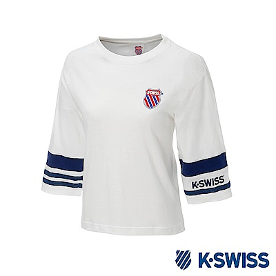 K-SWISS Half Sleeve T-Shirt印花短袖T恤-女-白