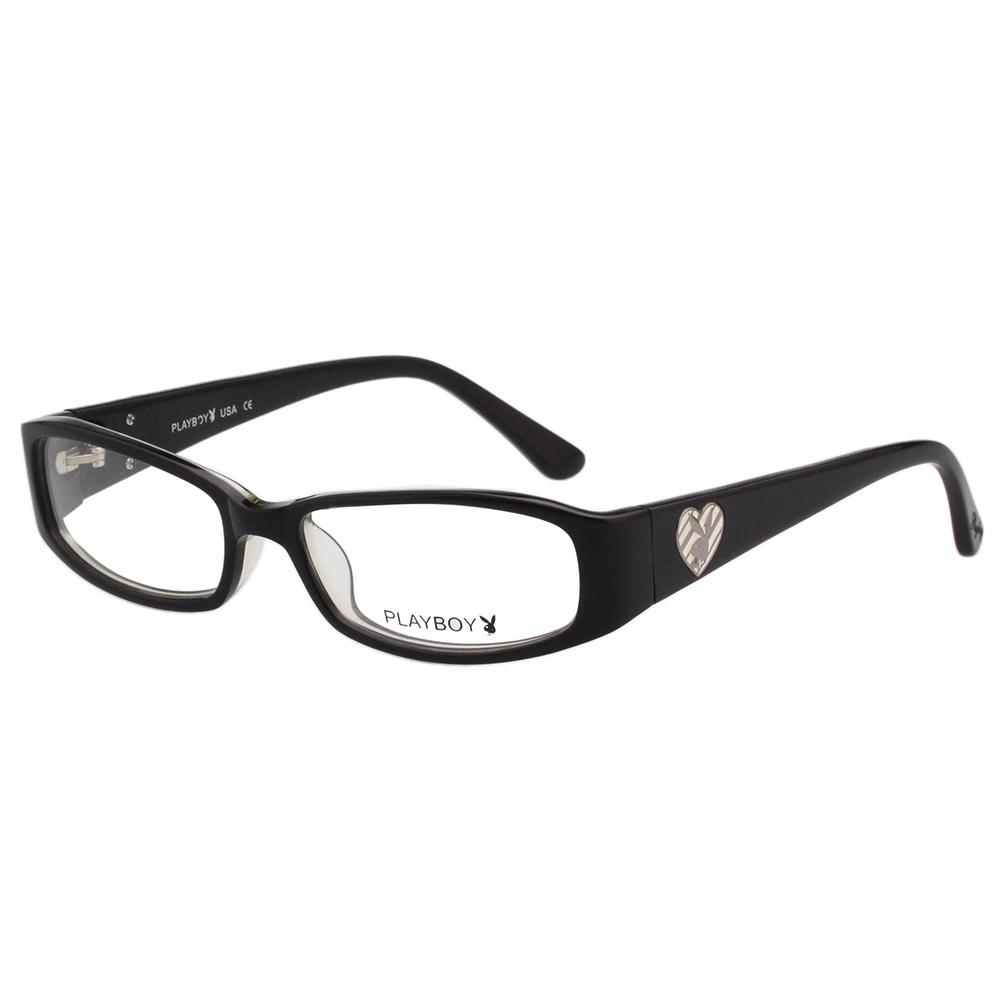 PLAYBOY-時尚光學眼鏡-黑色-PB85058