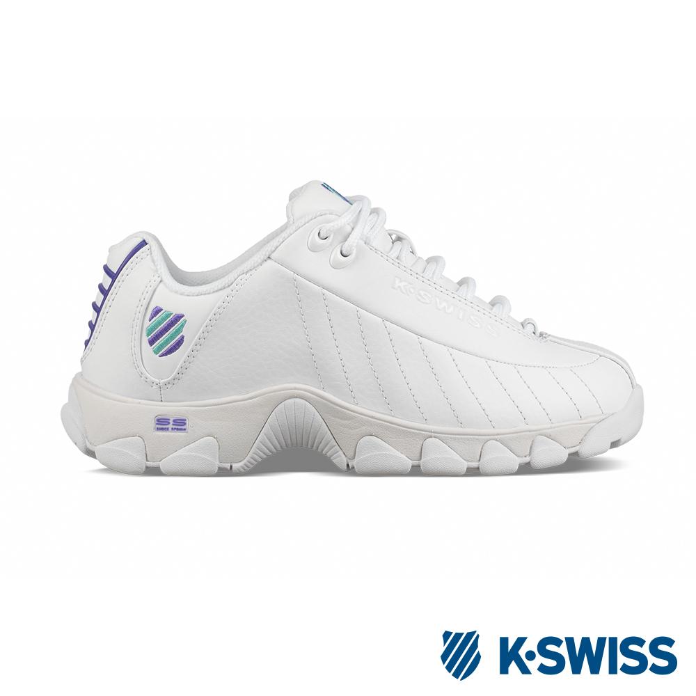 K-SWISS ST329 CMF老爹鞋-女-白/紫/綠| 休