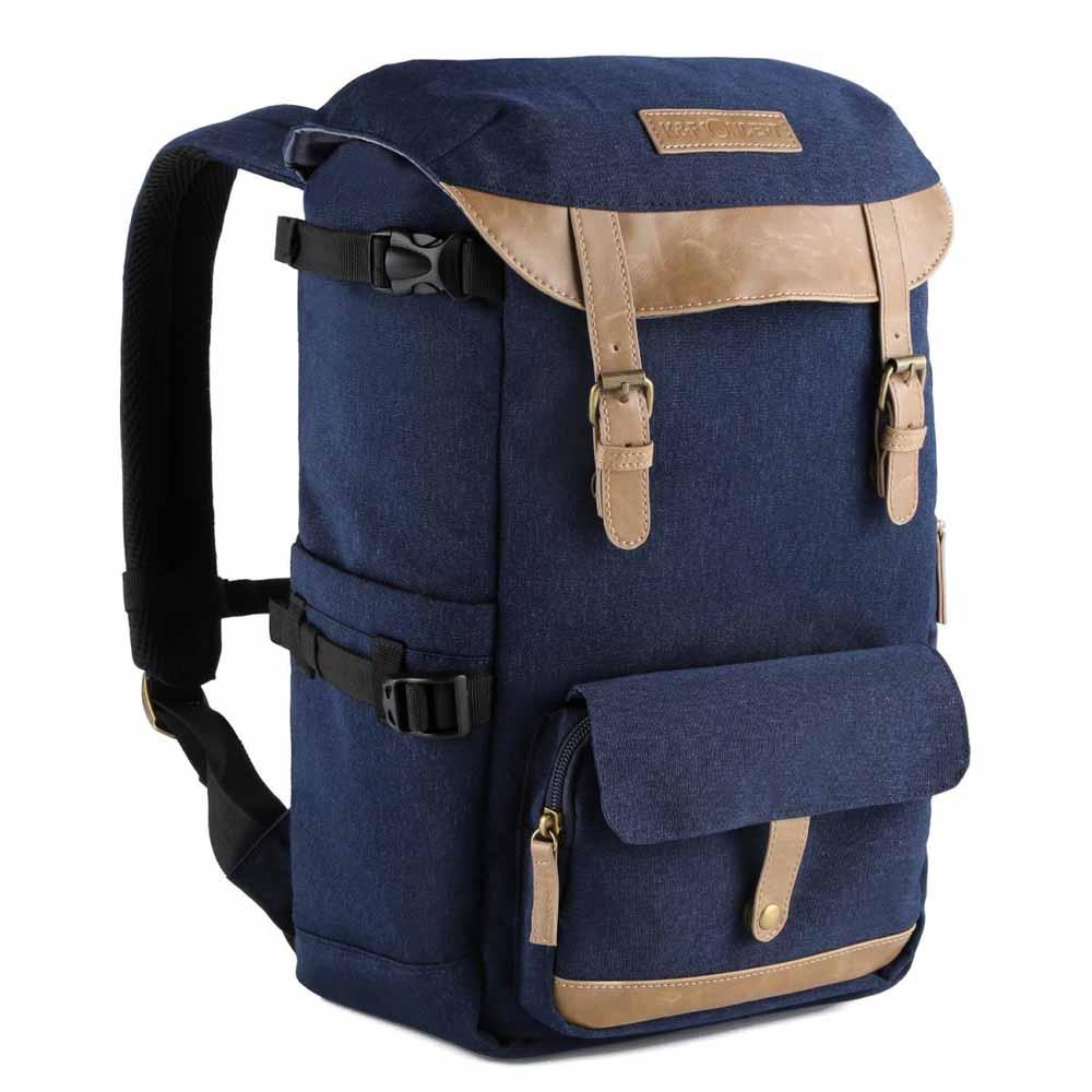 【K&F Concept】時尚者 攝影 單眼 後背包 相機包 棕藍(KF13.066)