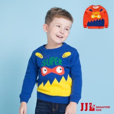 JJLKIDS 小妖怪純棉保暖內刷毛針織毛衣(2色)