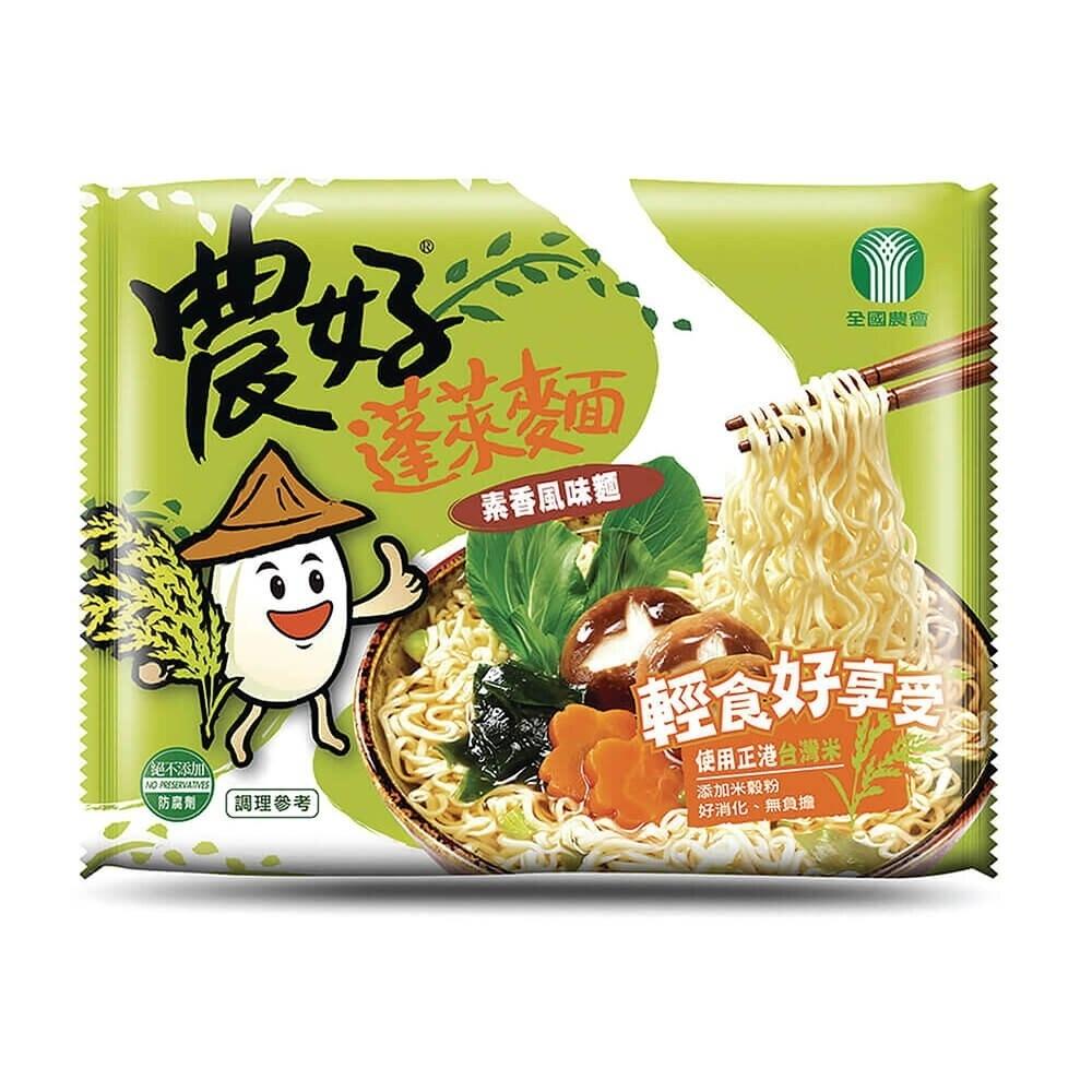 【全國農會】農好蓬萊麵-素香風味(67gx15包/箱)